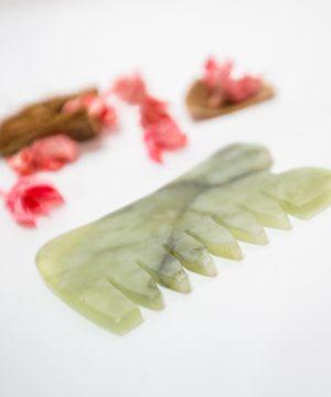 Jade Gua Sha Comb
