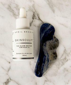 Sodalite Gua Sha+ Skinsculpt Pure Facial Oil